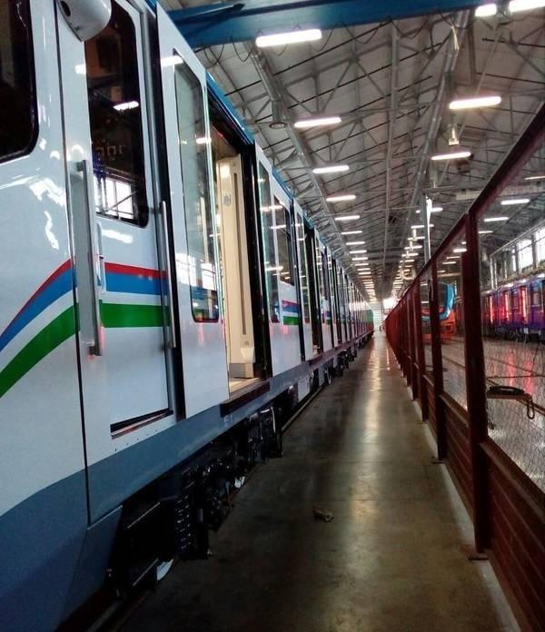 Первый поезд метро модели 81-765/766 для Ташкента события,Новости,сделано у нас