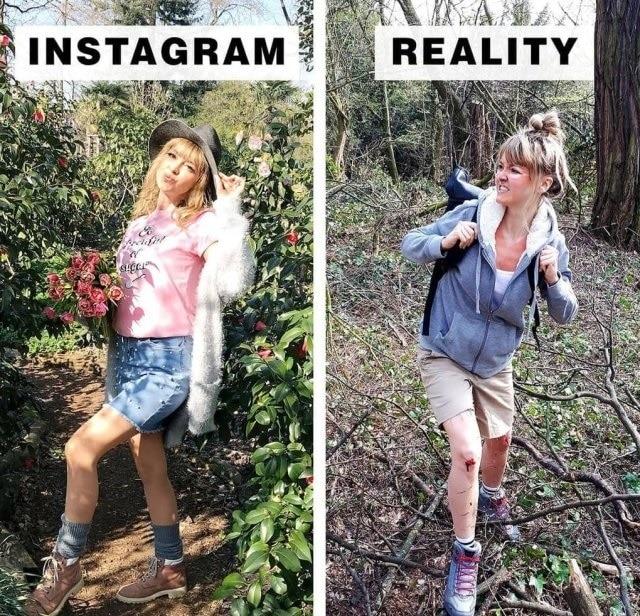Блогер демонстрирует, как смотрится действительность за границами Instagram Приколы,instagram,иллюзия,природа,сон,фото