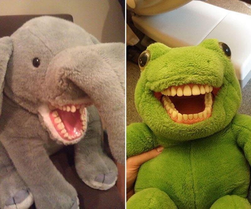 Травма детства: зубастые игрушки в кабинетах стоматологов Приколы,дети,игрушки,родители