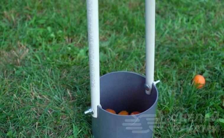Приспособа для сбора упавших на землю абрикосов Самоделки