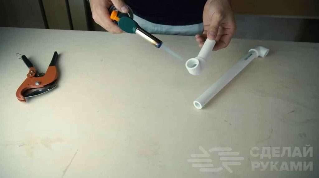 Способ соединения полипропиленовых труб без паяльника Самоделки
