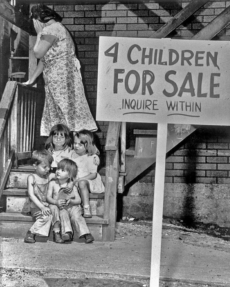 Истории самых известных фотографий ХХ века: Дети на продажу   Интересное