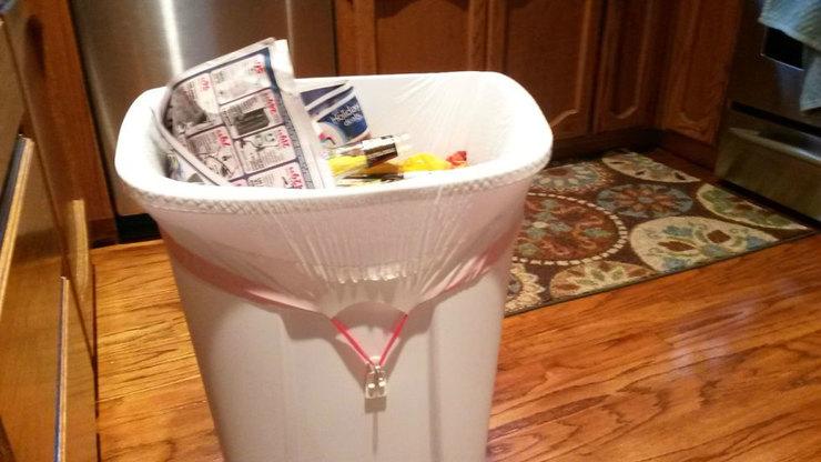 Лайфхаки с мусорным ведром. Вы не могли представить, как это просто и удобно. идеальная хозяйка,лайфхак,мусорное ведро,порядок,хранение
