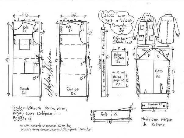 Выкройка джинсового кардигана на все размеры женские хобби,кардиган,рукоделие,своими руками,шитье