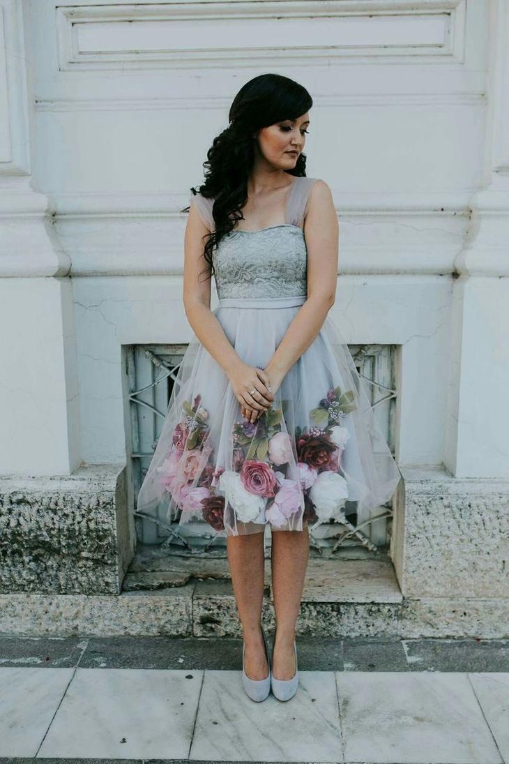 Очень красивые наряды из шифона и искусственных цветов лучшее,мода,модные советы,Наряды