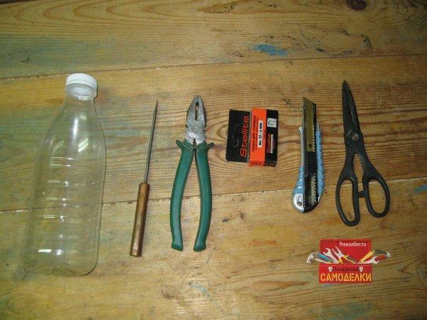 Поясной держатель для удочки из пластиковой бутылки самоделкин