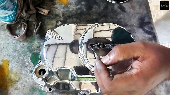 Как восстановить и отполировать крышку двигателя автомобили,тюнинг