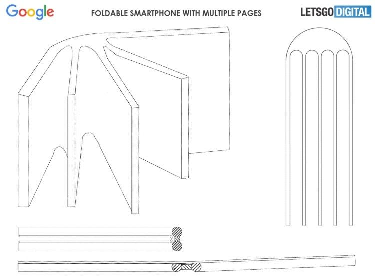 Google запатентовала смартфон-книгу с несколькими дисплеями новости,статья,технологии