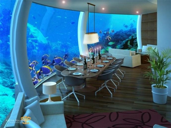 Уникальный подводный отель в Дубаи города,заграница,отдых,страны,туризм