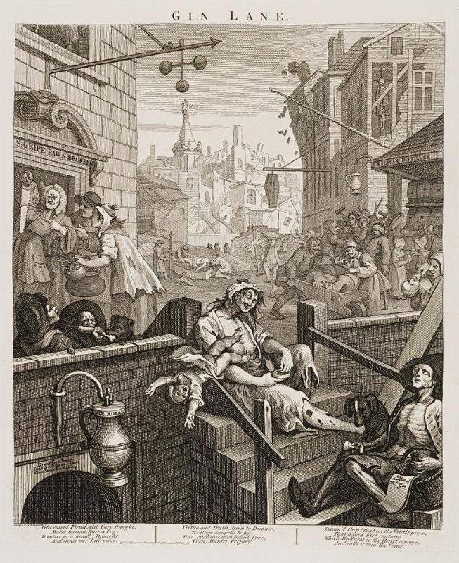 Как Лондон чуть не погубила дешевая выпивка Великобритания,история,спиртное